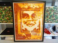 2000 Obey Shepard Fairey Japan Stencil ART PRINT RARE 18X24 + Artists Proof AP