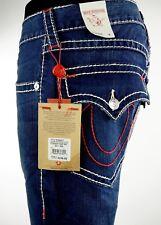 $293.00 True Religion Mens Jean Straight Leg Big T Red 36 X 32.5 MOE859ETF
