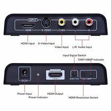 HD Video Converter 3RCA AV R/L S-Video Audio to HDMI 720/1080P Converter Adapter