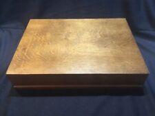 Vintage Signed Gorham Sterling Silver Flatware Wood Storage Case Chest