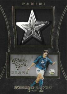 2016 PANINI BLACK GOLD SOCCER Roberto Baggio Italy Star Medallions Rare Card