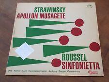 Stravinsky Apollon Musagete COMISSIONA CONCERT HALL TURICAPHON LP SMS-2295 Swiss