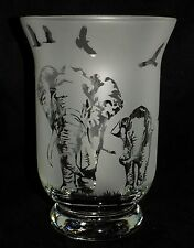 """New & Unique """"ELEPHANT"""" Frosted Glass Vase -  Can be used with sand, pot pourri"""