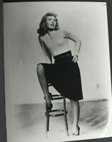 "Barbara Steinwyck Portrait Sitting Stool - 8x10"" Photo Print - Vintage L1209H"