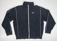 Men's Nike Windbreaker Jacket Size XL Black Full Zip