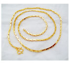 2 MM Link Chain 22K 23K 24K THAI BAHT GOLD GP NECKLACE 18 inch 14 Grams Jewelry