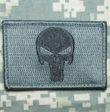 PUNISHER SKULL ACU DARK USA ARMY US MILITARY TACTICAL HOOK MORALE BADGE PATCH
