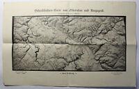 Höhenschichtenkarte Olbernhau & Umgebung um 1920 Sachsen Landkarte Emil Weigel