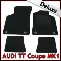 Audi TT Coupe Mk1 1998-2006 Tailored LUXURY 1300g Carpet Car Floor Mats BLACK