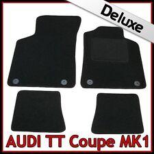 AUDI TT Coupe Mk1 1998-2006 A Medida De Lujo 1300g Alfombra Tapetes Coche Negro