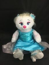 "Build A Bear 16"" Plush Disney Frozen Princess Elsa Dress Shoes Wig doll"