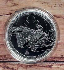 2021 Star Wars Millennium Falcon Niue 1oz Silver Bullion coin in capsule