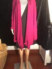 The Territory Ahead Women's Burgundy long sweater, Size M, Asymmetrical