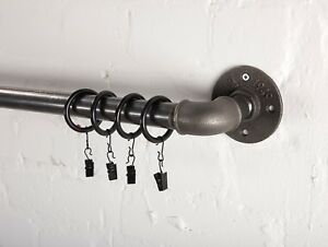 Curtain pole, curtain rail, industrial curtain rail, steampunk, vintage, curtain
