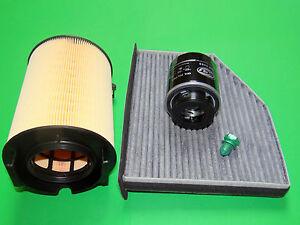 Ölfilter Luftfilter Aktivkohle-Pollenfilter Skoda Yeti 1.4 TSI (90kW/122PS)