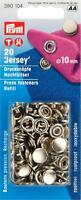 Prym Jersey Druckknöpfe 10 mm 20 Stück Nähfrei Nachfüllpack Metall silber 390104
