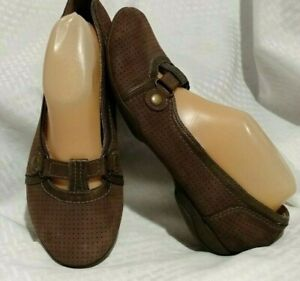 Women's Brown Kiva Privo by Clarks Shoes Sz 91/2 Flats