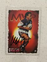 ✺Signed✺ 1995 Dynamic Series 1 MVP Cliff Lyons (Manly) NRL Rugby League card