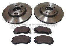 FRONT 2 BRAKE DISCS AND PADS SET (CHECK PADS) FOR KIA VENGA 1.4 + 1.6 2009-2015