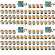 100 x Wago 2-way Electrical Lever Connectors Wire Terminal Block Clamp (222-412)