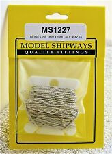 "Model Shipways Fittings MS 1227 Beige Rigging. .041"" X 32.5'. 10 YDS. NEW."