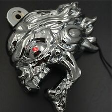 "Chrome Zombie horn cover w/ LED For 92-16 Harley ""cowbell"" and all V-rod's"
