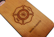 FIRE SERVICE IPHONE 7 CASE Wood Wooden Custom Engraved Personalised FIREFIGHTER