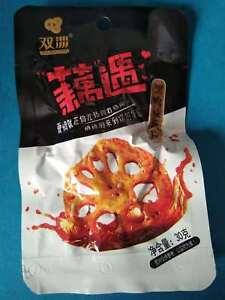Chinese Food  lotus root slices 香辣藕麻辣藕干 辣的够味 每小袋30g ,项目数量20袋X30g Free Shipping