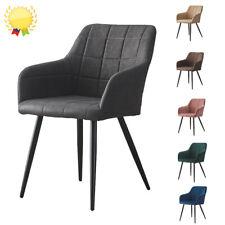 2er Esszimmerstühle Samt/Kunstleder PU Esszimmerstuhl Küchen Wohnzimmer Stuhl