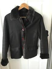 100% Genuine Leather Sheepskin Jacket. Brown. Size 10