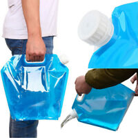 5L /10L Folding Drinking Water Bucket Camping Hiking Water Container Storage Bag