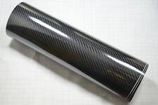 8dm Envoltura de vinilo fibra carbono ( AIRE / Sin Burbujas) Negro Brillo Multi
