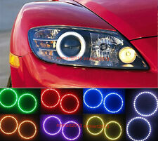 WIFI RGB LED Halo Rings For Mazda RX8 2004-2008 Devil Angel Eyes Multi-Color DRL