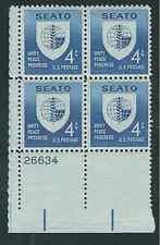 Scott #1151....4 Cent...  SEATO...10 Plate Blocks.. .40 Stamps