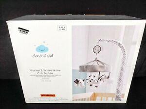 Cloud island Musical & White Noise Crib Mobile Black & White Animals