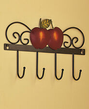 APPLE WALL HOOK TOWEL KEY RUSTIC ART COUNTRY KITCHEN HOME DECOR