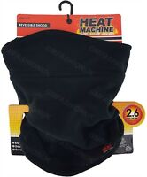 Mens Ladies Thermal Neck Warmer Scarf Snood Tog 2.6 Black Ski By Heat Machine