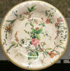 Victorian Rose 8-inch Round Paper Plates 8-ct Pink Shabby Chic Beautiful