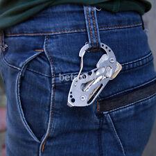 Outdoor Survival Camping EDC Multi-Tool Gear Carabiner Keychain Key Holder Climb