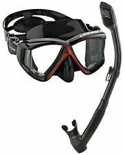 Cressi Panoramic 4 Window Mask Dry Snorkel Set