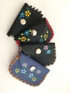 Mexican Leather Hand Tooled Coin Purse Wallet.