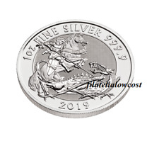 Moneda 2019 GB The Valiant St George y Dragon 9999 Plata Silver Coin San Jorge