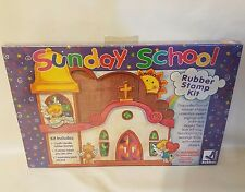 Rubber Stampede Sunday School Religious 11 Rubber Stamps Kit NEW Sealed