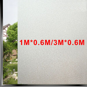 1m/3m Privacy White Frosted Window Door Film Frost Etched Glass Sticker Back