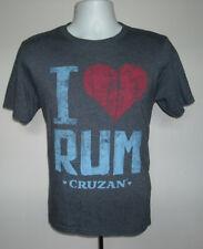 Womens I Heart Love Cruzan Rum T shirt small distressed