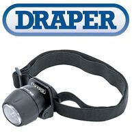 DRAPER 5 LED Head Torch Lamp Light Bright 50 Lumens + CR2032 Batteries 07190