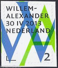 NVPH 3058 INHULDIGINGSPOSTZEGEL: WILLEM-ALLEXANDER 2 geknipt 2013 postfris