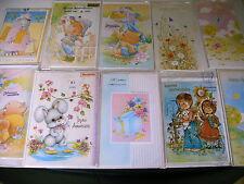 lot 10 cartes anniversaire neuves + enveloppes sous sachet plastique - lot 2