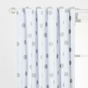 """Dot Blackout Curtain Panels Silver (42""""x84"""") - Pillowfort"""