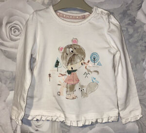 Girls Age 9-12 Months - Pretty Long Sleeved Top
